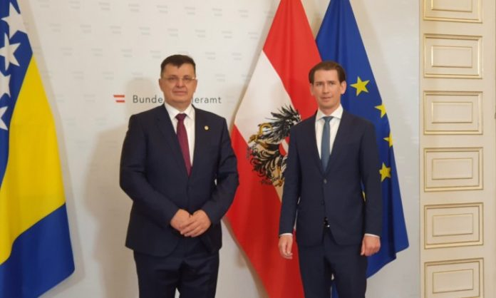 Tegeltija i Kurz razgovarali o saradnji BiH i Austrije, sigurnosti i migracijama