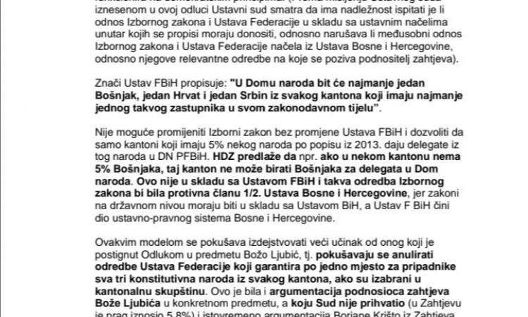 Izetbegović pisao Čoviću SDA neće pregovarati samo sa HDZ-om, traži uključivanje svih parlamentarnih stranaka
